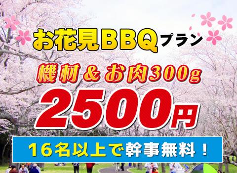 大阪城で花見レンタルバーベキュー