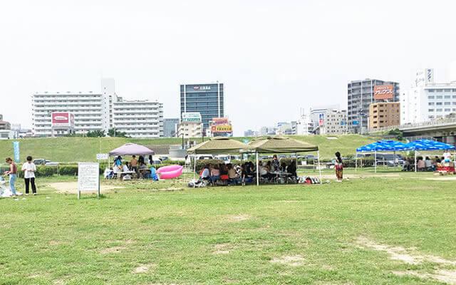 淀川河川敷 西中島地区